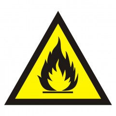 Warning of flammable substances