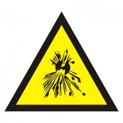 Warning of explosive substances