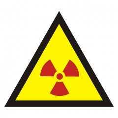 Warning of radioactive substances