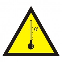 Warning of low temperatures