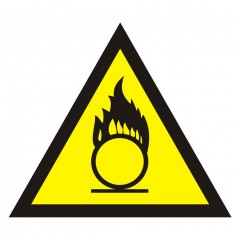 Warning of oxidising substances