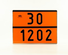 Boards for transport units carrying dangerous goods