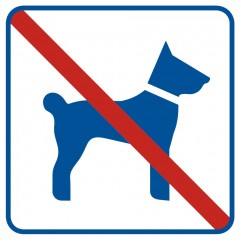 No entry with dogs