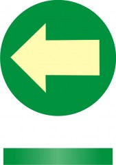 Direction of the escape route - floor sign - recessed into the floor