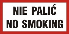 Nie palić-No smoking