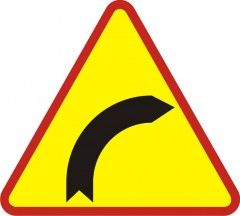 Right bend ahead