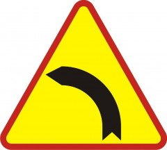 Left bend ahead