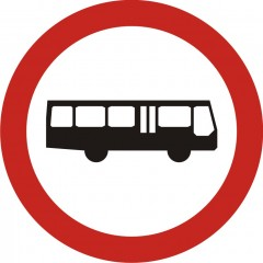 No buses allowed