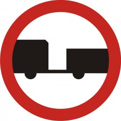 No engine vehicles with a trailer