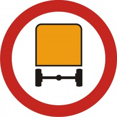 No vehicles with hazardous materials