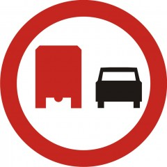 No passing trucks