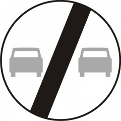 End of overtaking