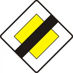 End of priority road
