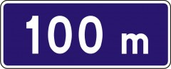 Distance of the information sign from the beginning (the end) of the road or a lane