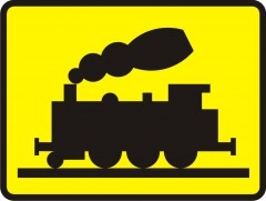 Plate indicating railway siding or track of similar character