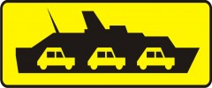 Plate indicating ferry crossing