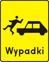 Plate indicating a spot of frequent blindsiding pedestrians
