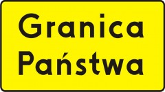 Plate indicating country's border