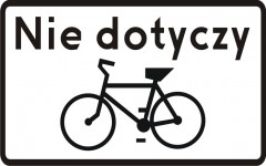 Plate indicating, it doesn't concern two-wheel bicycles