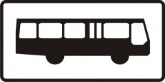 Plate indicating buses
