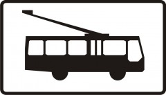 Plate indicating trolleybuses