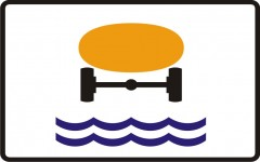 Plate indicating vehicles with materials that can contaminate water