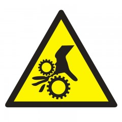 Warning! Rotating elements