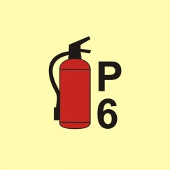 Powder fire extinguisher P6