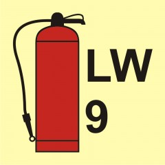LW9 water fire extinguisher