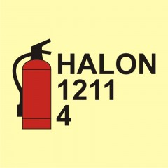 Halon 1211/4 fire extinguisher