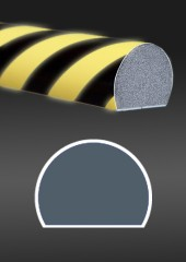 Photoluminescent protective profile black - yellow