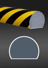 Warning protective profile black - yellow