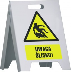 Stand with signs (any graphics) - large 50 x 80 cm