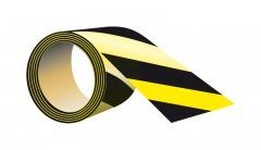 self-adhesive, reflective tape, yellow - black, length 5 meters, width 5 cm