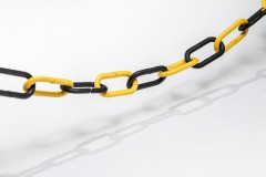 separating chain black - yellow; 1m