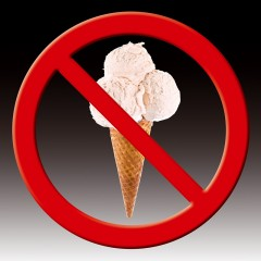 No ice-cream allowed