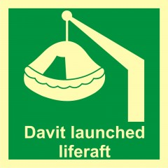 Davit-launched liferaft