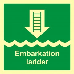 Embarkation ladder or alternative approved device