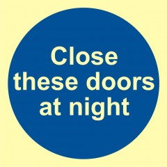 Close these door at night