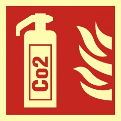 Fire extinguisher with Co2