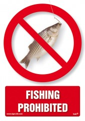 Fishing prohibited