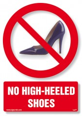 No high-heeled shoes