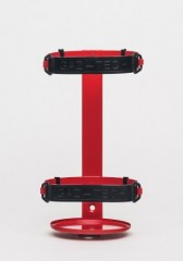 Wall hanger with band clip for 4kg and 6kg fire extinguishers