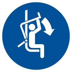 Close safety bar of chairlift