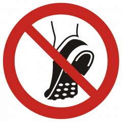 Do not wear metal-studded footwear