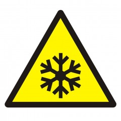 Warning; Low temperature/ freezing conditions