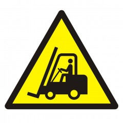Warning; Forklift trucks and other industrial vehicles