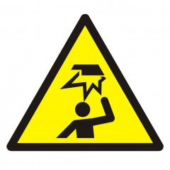 Warning; Overhead obstacle