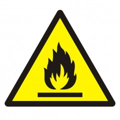 Warning; Flammable material