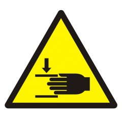 Warning; Crushing of hands
